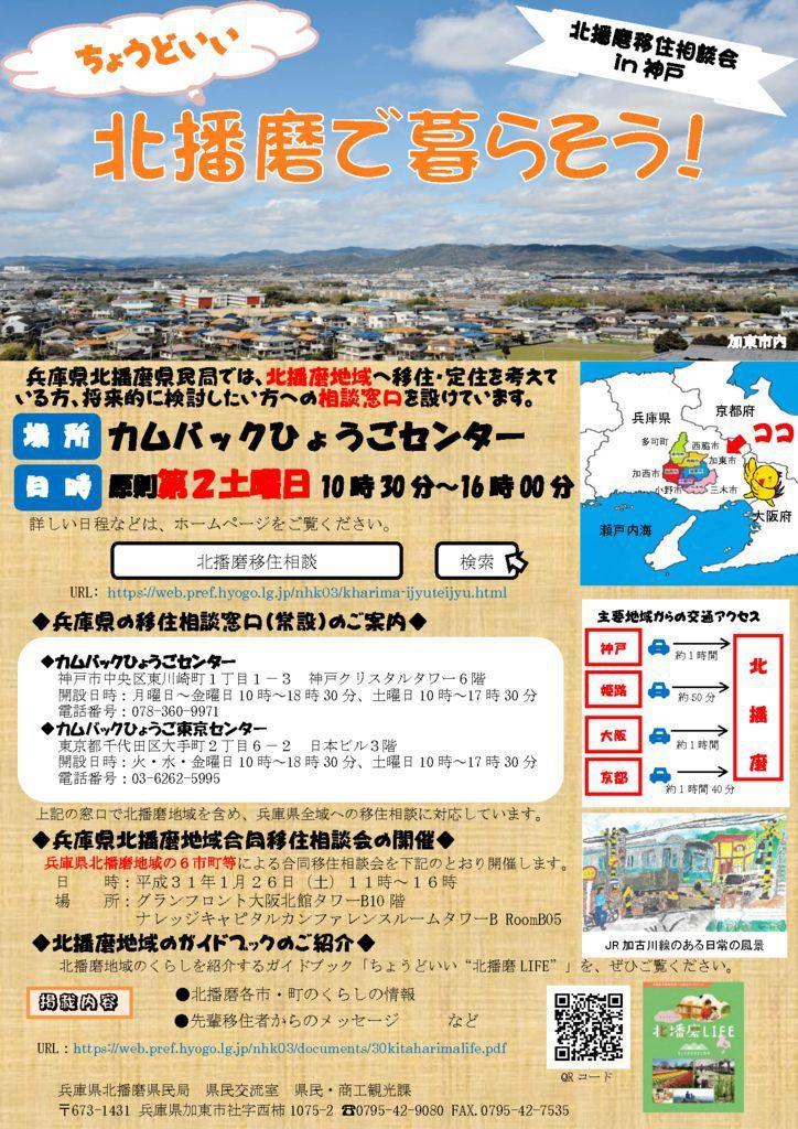 ちょうどいい♪北播磨で暮らそう!~北播磨移住相談会in神戸~ @ カムバックひょうごセンター