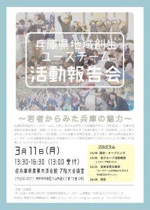 兵庫県地域創生ユースチーム活動報告会 @ 農業共済会館7階大会議室